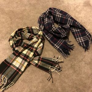 Other - Lot of 2 plaid scarves